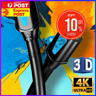 AU6.95 • Buy HDMI Cable V2.0 3D Ultra HD TV 4K 2160p 1080p High Speed With Ethernet HEC ARC