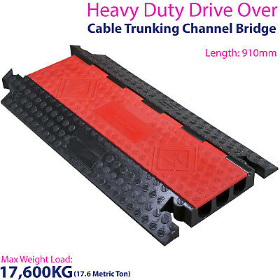 £249.99 • Buy 17,600KG 3 Channel Drive Over Cable Protector - Outdoor Trunking Bridge Ducting