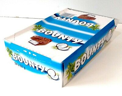 Bounty Milk Chocolate (Coconut) Box Of 24x57g Bars Best Before 03/02/21 • 11.99£