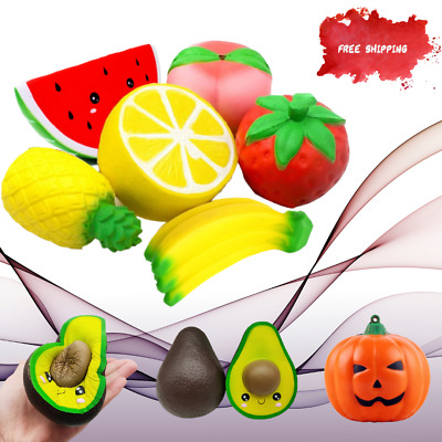 AU25.82 • Buy Jumbo Kawaii Cute Fruit Squishy Doll Stress Relief Squeeze Toys Kids Gift