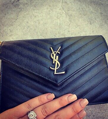 AU1250 • Buy YSL Envelope Chain Wallet With Receipt RRP $1880