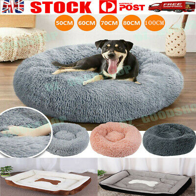 AU28.88 • Buy Pet Dog Cat Calming Bed Warm Soft Plush Round Nest Comfy Sleeping Kennel Cave
