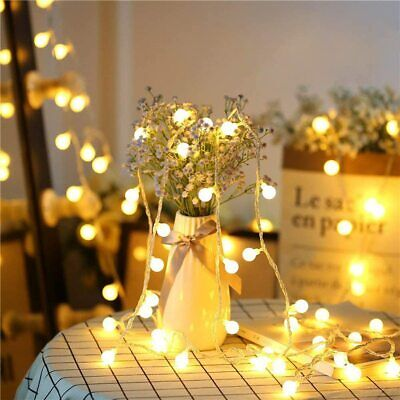 Globe String Lights Battery Powered 10M 100LEDs Outdoor Fairy Lights 8Modes IP44 • 12.99£