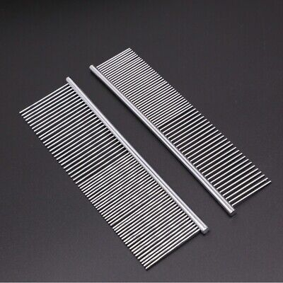 £3.83 • Buy Professional Pet Dog Grooming Comb Metal Brush With Round Tooth For Deshedding