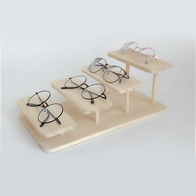 AU15.73 • Buy Multi Layers Glasses Display Stand Jewelry Holder Sunglasses Frame Wooden Show