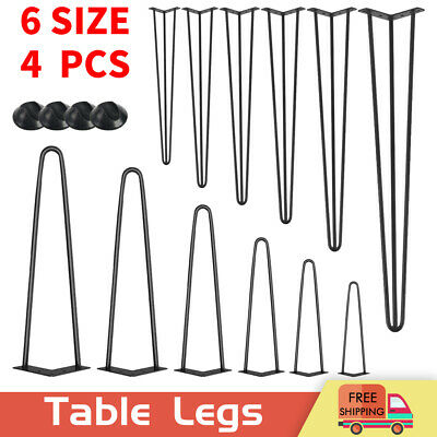 Set Of 4 Hairpin Table Legs Furniture Set Hair Pin Desk Bench Steel Coffee Chair • 22.99£