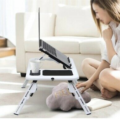 Foldable Laptop Bed Table Stand Sofa Lap Tray Computer Desk Adjustable Portable • 10.98£