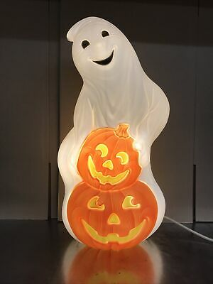 $ CDN56.24 • Buy Blow Mold Halloween Ghost With Pumpkins Light Up Decoration New Stock 31""