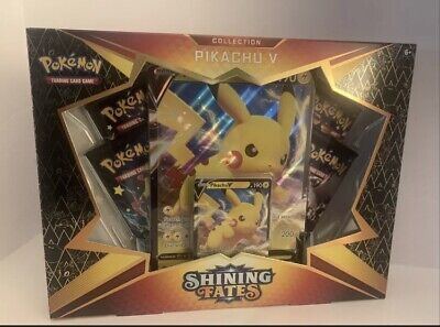 $39.95 • Buy Pokemon TCG Shining Fates ~ Super-Powered Pikachu V Collection, 4 Booster Packs