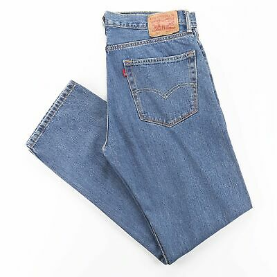 LEVI'S 505 Blue Denim Regular Straight Jeans Mens W36 L34 • 24.95£