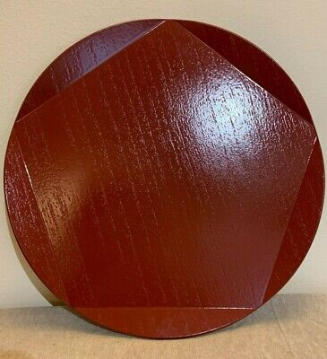 Japanese Kyoto Plum Blossom Shape Wooden Lacquer Ware Serving Tray - ZOHIKO • 27£