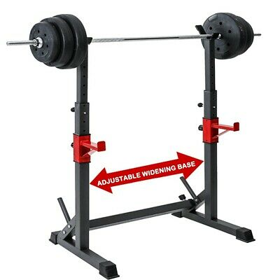 $ CDN140.81 • Buy Adjustable Squat Rack Bench Press Power Weight Rack Barbell Stand Gym Home