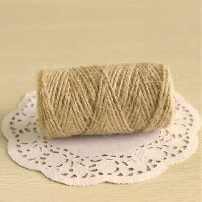 New Natural Brown Jute Burlap Hemp Twine String Cord Rope For Arts Craft Gift • 6.64£
