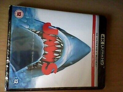 Jaws 45th Anniversary Edition 4K UHD AND BLU RAY. NEW SEALED REGION FREE • 15.75£