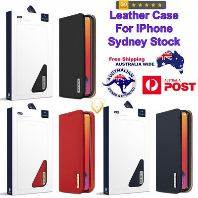 AU39.99 • Buy Genuine Strong Leather Case With Card Slots & Wallet For IPhone 12 Pro Max X