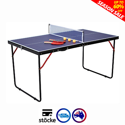 AU94.99 • Buy SALE Portable Table Tennis Table Play Post Indoor Outdoor Net Bat Ball Activity