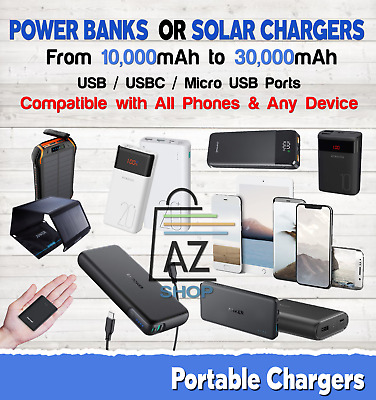 AU114.95 • Buy Power Bank Fast Charger External Portable Battery USB For Phones/Devices Lot MAh
