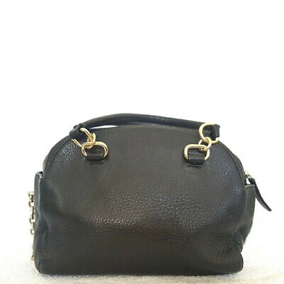 AU70 • Buy OROTON Small Black Leather Crossbody Handbag EUC