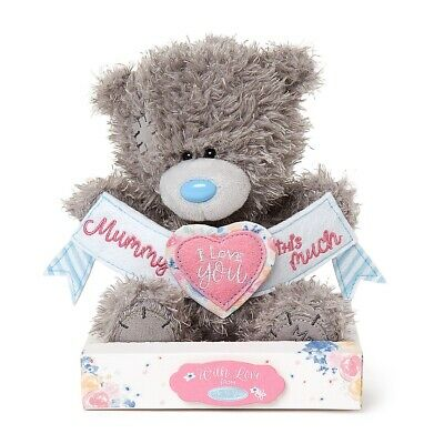 Me To You - Tatty Teddy 7  Mummy I Love You This Much Banner Plush Bear • 9.99£