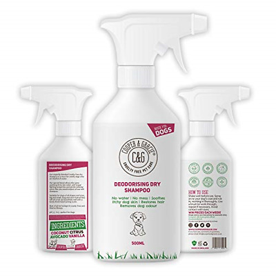 Dry Dog Shampoo Spray For Smelly Dogs - Wipe Clean Stain Remover - Cruelty Free • 16.13£