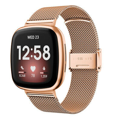 $ CDN9.56 • Buy Stainless Steel Metal Bracelet Band For Fitbit Versa 3 Watch Strap Wristband