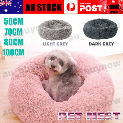 AU15.88 • Buy Pet Dog Cat Calming Bed Warm Soft Plush Round Nest Comfy Sleeping&Kennel Cave