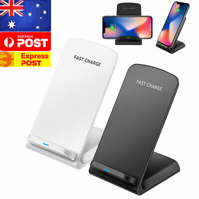 AU12.99 • Buy 10W Fast Wireless Charger Stand Qi Charging Dock For Samsung / IPhone /Lumia AU