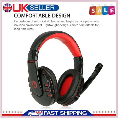 Wireless Gaming Headset With Mic Headphones Surround For PC Laptop Xbox One • 18.55£