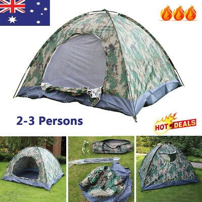 AU14.29 • Buy 2-3 Person Camping Tent Waterproof Portable Outdoor Hiking Sun Shade Shelter