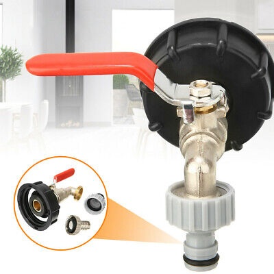 S60X6 IBC Tank Adapter To Brass Garden Tap With 1/2  Hose Fitting Oil Fuel Water • 9.99£
