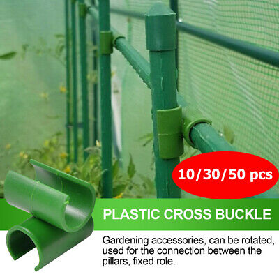 £2.58 • Buy Greenhouse Frame Pipe Tube Film Clip Clamp Garden Net Accessories Fittings