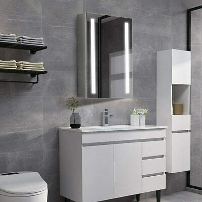 LED Bathroom Mirror Cabinet Lights Illuminated With Demister Shaver Socket Touch • 117.99£
