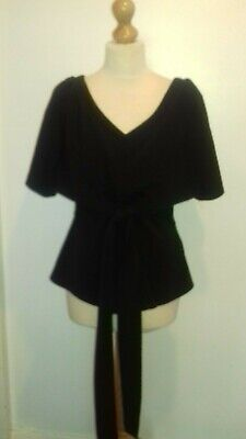 ISSA Black Front Tie Top Size 12 • 2£