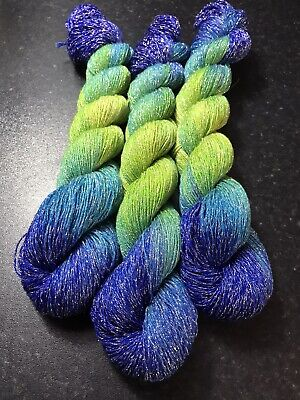 Cashmere Sparkly Yarn 3ply Heavy Lace Weight. 100g Hand Dyed And Super Soft. 💋 • 11£