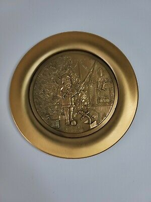 $ CDN18.19 • Buy NORMAN ROCKWELL The Continental Mint Inc 24k GOLD CHRISTMAS 1976 PLATE