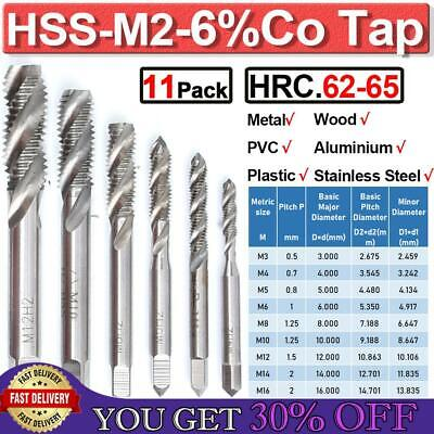 $16.99 • Buy HSS-M2 Spiral Metric Tap Set Right Hand Thread Cutter Machine Tap For M3-M20 Hot