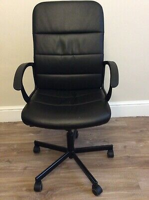 Torkel Ikea Swivel Office Chair With Wheels, Adjustable, Black Used • 19.99£