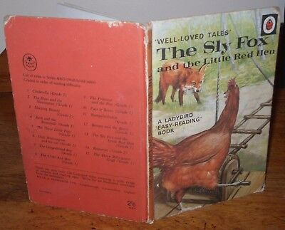 VINTAGE LADYBIRD Series 606D THE SLY FOX AND THE LITTLE RED HEN C1969 2/6d • 6£