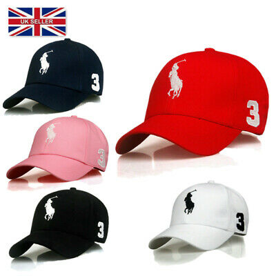 New Baseball One Pony Free Size Mens Womens Strap Cap Adjustable Sun Hat UK • 6.48£