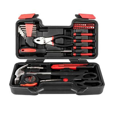 NEW 39pcs Red Tool Set Household Tools Kit Box Mechanics Women Ladies • 0.70£