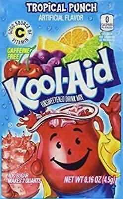 Kool Aid Drink Mix Powdered Envelope Tropical Punch 6 Ct • 7.55£