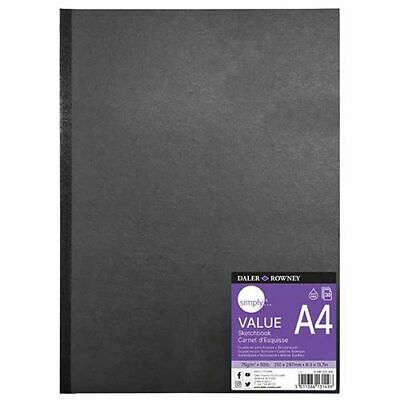 £5.99 • Buy Daler Rowney A4 A5 Sketch Book Slim Travel Size Pad Pencil Graphite Charcoal