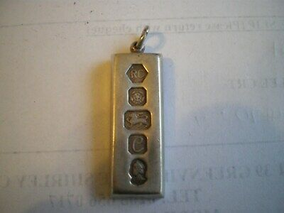 SOLID STERLING SILVER HALLMARKED 1977 JUBILEE 31g/1oz INGOT - GOOD CONDITION • 25.50£