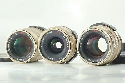 $ CDN1002.43 • Buy 【Excellent+++++】 Contax Carl Zeiss T* 28mm 45mm 90mm For G1 G2 From Japan #195