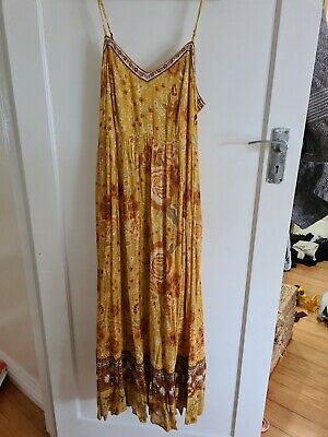 AU166.92 • Buy Spell And The Gypsy Mystic Strappy Maxi Dress-Sunflower Small BNWT