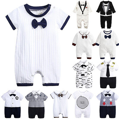 AU17.85 • Buy Infant Toddler Baby Girl Boy Gentleman Hoodies Romper Jumpsuits Outfit Clothes