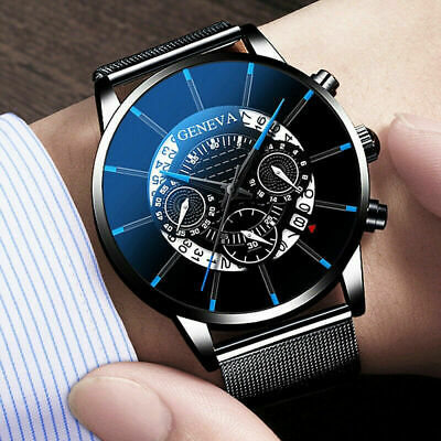 £4.99 • Buy Mens Army Military Stainless Steel Wrist Watch Quartz Date Analog Sports Watches