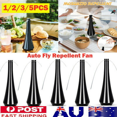 AU44.99 • Buy 1-5X Automatic Fly Trap Fly Repellent Fan Keep Flies Bug Food From Away Fruit AU