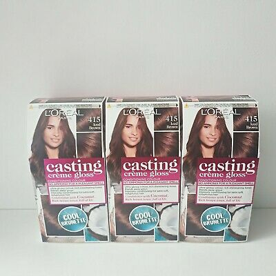 L'Oreal Casting Creme Gloss Semi-permanent Iced Brown 415 Hair Colour Dye • 19.95£