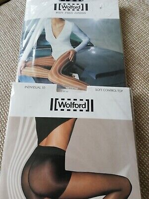 Wolford Tights 2 Pairs Luxury Tights Black And Stone S/M • 6.50£